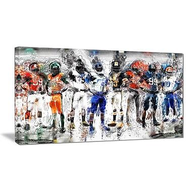Designart Football Team Canvas Art Print, (PT2505-32-16)