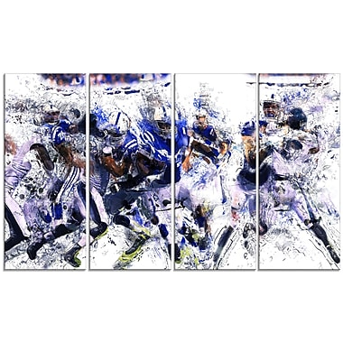 Designart Football Running Back to Score Canvas Print, (PT2506-271)