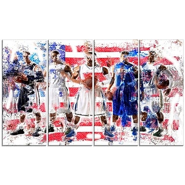 Designart USA Basketball Canvas Print, (PT2508-271)