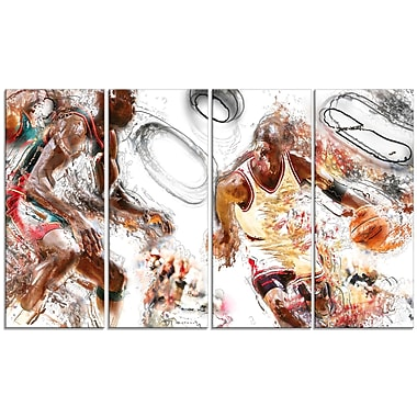 Designart Basketball Offense Canvas Print, (PT2509-271)