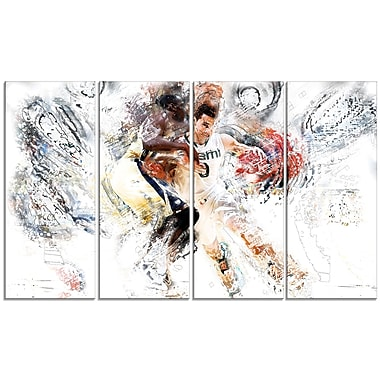 Designart Basketball Pick and Roll Canvas Art Print, (PT2510-271)