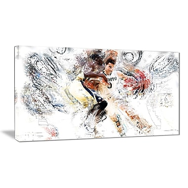 Designart Basketball Pick and Roll Canvas Art Print, (PT2510-32-16)