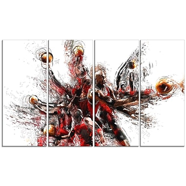 Designart Basketball Lay Up Canvas Art Print, (PT2513-271)