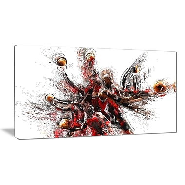Designart Basketball Lay Up Canvas Art Print, (PT2513-32-16)