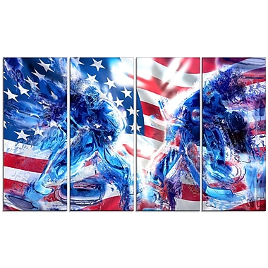 Designart Hockey USA Goalie Canvas Art Print, (PT2514-271)