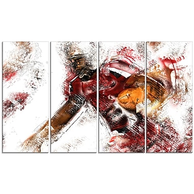 Designart Football Live Ball Canvas Art Print, (PT2518-271)