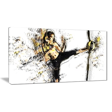 Designart Kick Ball Canvas Art Print, (PT2521-32-16)