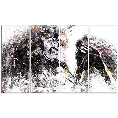 Designart Hockey Face Off Canvas Art Print, (PT2522-271)