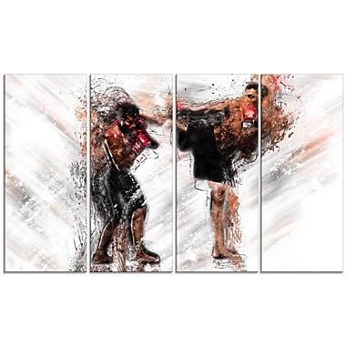 Designart – Impression sur toile, kickboxing, coup de pied latéral (PT2527-271)
