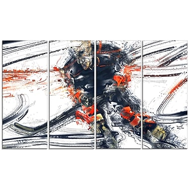 Designart Hockey In Motion Canvas Art Print, (PT2528-271)