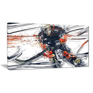Designart Hockey In Motion Canvas Art Print, (PT2528-32-16)