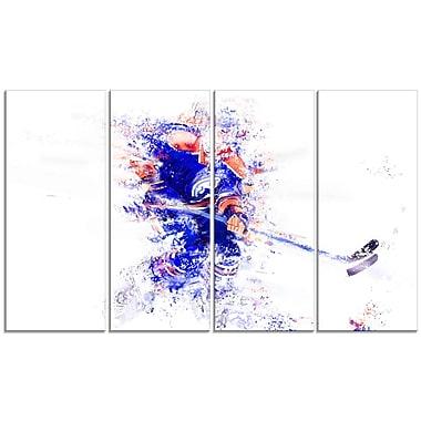 Designart – Allez la défense en hockey, imprimé sur toile (PT2529-271)