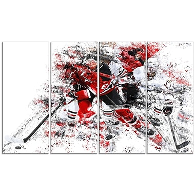 Designart Hockey Break Away Canvas Art Print, (PT2532-271)