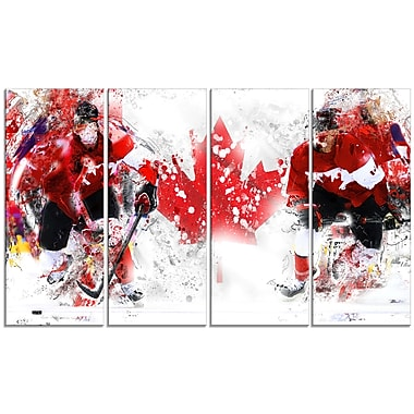 Designart Hockey In Canada Canvas Art Print, (PT2533-271)