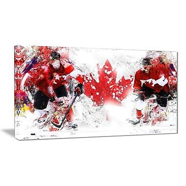 Designart – Art imprimé sur toile, hockey au Canada (PT2533-32-16)