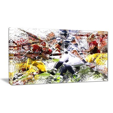 Designart Football Possession Canvas Art Print, (PT2535-32-16)