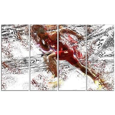 Designart Track Team Sprinting Canvas Art Print, (PT2536-271)