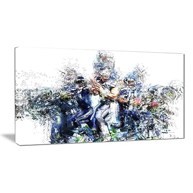 Designart Football Strategic Plays Canvas Art Print, (PT2538-32-16)
