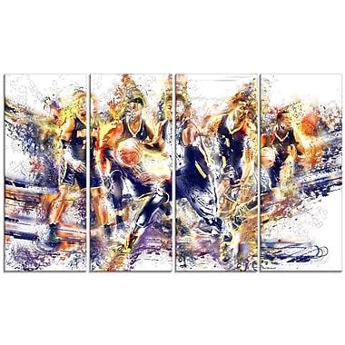 Designart – Allez l'offense en basketball, imprimé sur toile (PT2540-271)