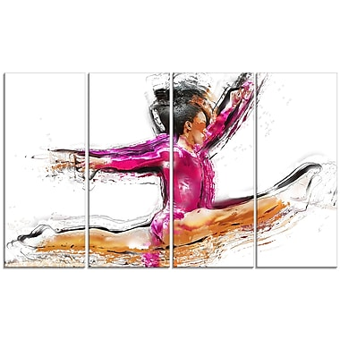 Designart Gymnastics Split Canvas Art, (PT2544-271)