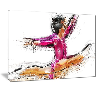 Designart Gymnastics Split Canvas Art Print, (PT2544-32-16)