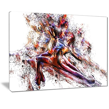 Designart Figure Skating Couple Canvas Art Print, (PT2545-32-16)