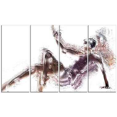 Designart Ballet Ballerina Canvas Art Print, (PT2546-271)