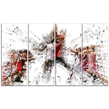 Designart Basketball Jump Shot Canvas Art Print, (PT2547-271)