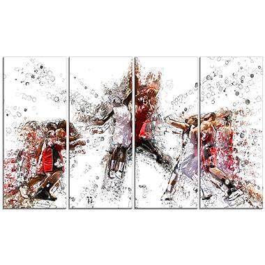 Designart – Art imprimé sur toile, saut au basketball (PT2547-271)