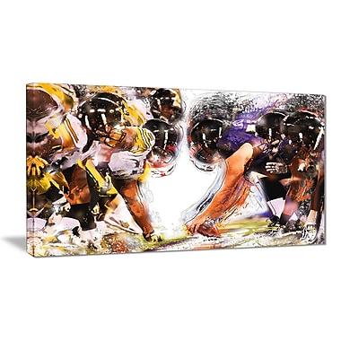 Designart Football Hut Canvas Art Print, (PT2548-32-16)