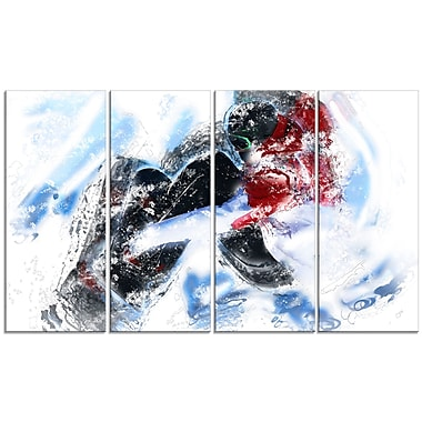 Design Art Snow Boarder Down Hill Canvas Art Print