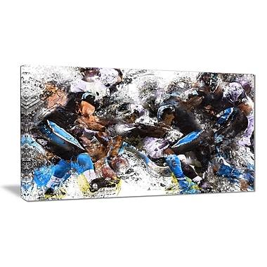 Designart Football in Action Canvas Art Print, (PT2551-32-16)