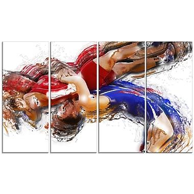 Designart – Wrestling corps Slam imprimée sur toile (PT2554-271)