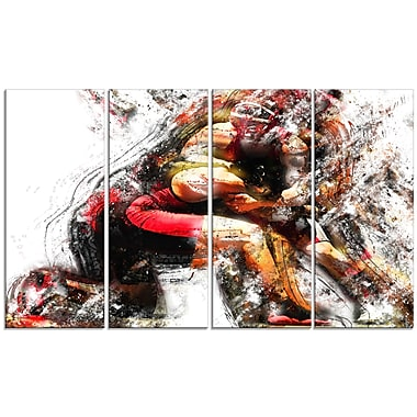 Designart Wrestling in Action Canvas Art Print, (PT2555-271)