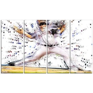 Designart Baseball Pitcher Canvas Art Print, (PT2558-271)