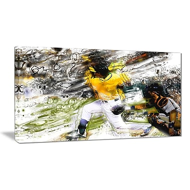 Designart Baseball Umpire Canvas Art Print, (PT2559-32-16)