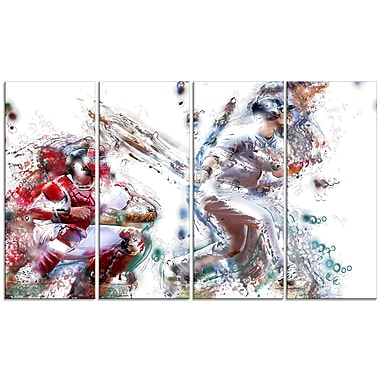 Designart Baseball Strike Canvas Art Print, (PT2560-271)