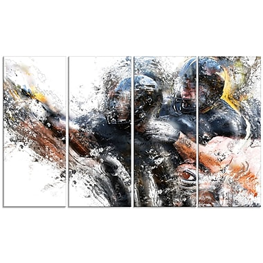 Designart Football Take Down Canvas Art Print, (PT2562-271)