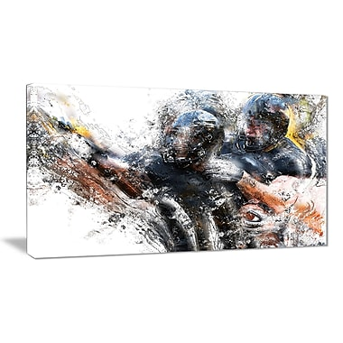 Designart – Imprimé sur toile, plaquage au football (PT2562-32-16)