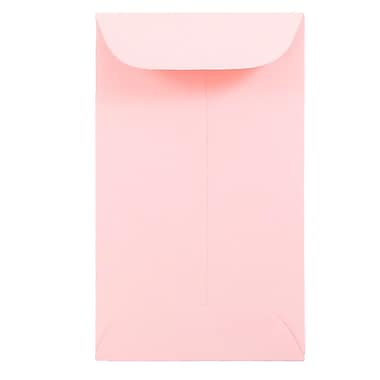 JAM Paper® #3 Coin Envelopes, 2.5 x 4.25, Baby Pink, 100/pack (356730543B)
