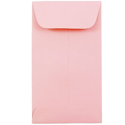 JAM Paper® #6 Coin Envelopes, 3 3/8 x 6, Baby Pink, 25/pack (356730562)
