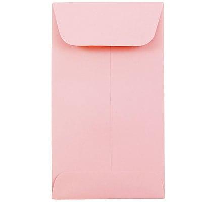 JAM Paper® #6 Coin Envelopes, 3 3/8 x 6, Baby Pink, 1000/carton (356730562C)