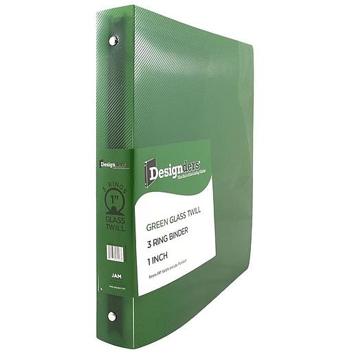 JAM Paper® Plastic 3 Ring Binder, 1 Inch, Green, Sold