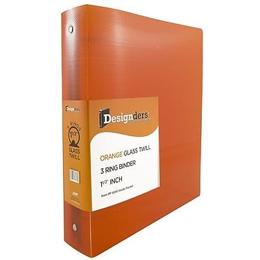 JAM Paper® Plastic 3 Ring Binder, 1.5 Inch, Orange, Sold Individually (762T15OR)