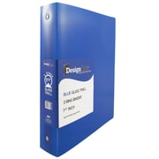 JAM Paper® Plastic 3 Ring Binder, 1.5 Inch, Blue, Sold Individually (762T15BU)