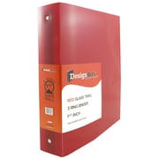 JAM Paper® Plastic 1.5 Inch Binder, Red 3 Ring Binder, Sold Individually (762T15RD)