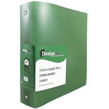 JAM PaperMD – Reliure en plastique à 3 anneaux, 2 po, 2/paquet