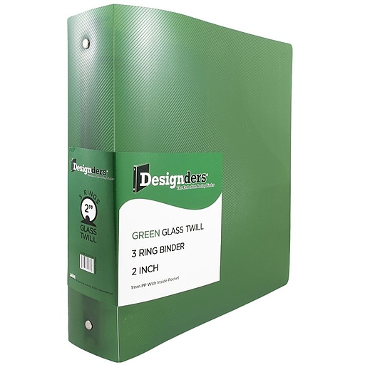 JAM Paper® Plastic 3 Ring Binder, 2 Inch, Green Sold