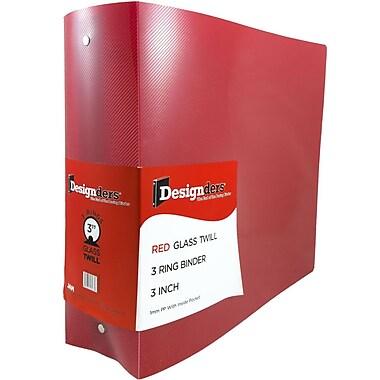 JAM PaperMD – Reliure en plastique à 3 anneaux, 3 po, rouge, 2/paquet