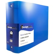 JAM Paper® Plastic 3 Ring Binder, 3 Inch, Blue, Sold Individually (821T3BU)